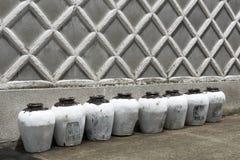 Ceramic bottles Stock Image