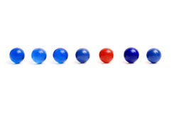 Row of vintage marbles Royalty Free Stock Photography