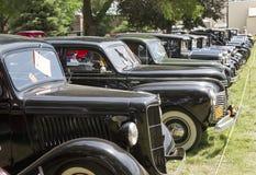 Row of Vintage Sedans Royalty Free Stock Photos