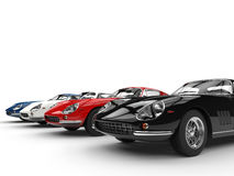 Row of vintage sports cars Stock Photo