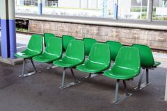 Row of waiting chairs Stock Images