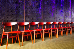 Row of waiting chairs Stock Image