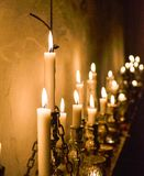 Candle lit view stock photos