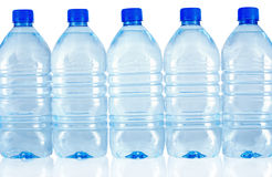Row of water's bottles Stock Image
