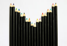Row wave of crayon. Row wave of colorful crayon Royalty Free Stock Images