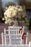 Row of wedding chairs Stock Image