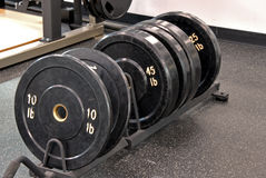 Row of weights Royalty Free Stock Image