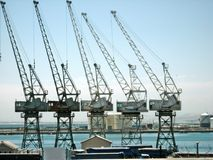 Row of cranes Royalty Free Stock Photos