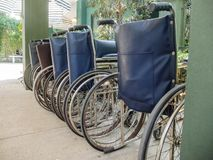 Row of Wheel Chairs Royalty Free Stock Photos