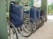 Row of Wheel Chairs used as Template Royalty Free Stock Photo