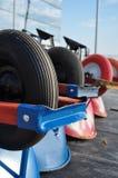 Row of Wheelbarrows Royalty Free Stock Image