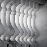 Row of white balusters Stock Photography