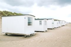 Row of white beachhouses Royalty Free Stock Photos