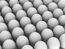 Row of white eggs Royalty Free Stock Images