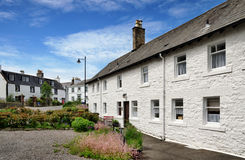 Row of white painted cottages in Kirkcudbright Royalty Free Stock Image