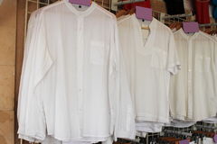 Row of white shirts Royalty Free Stock Photography