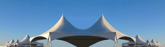 Row of white tent tops Stock Image
