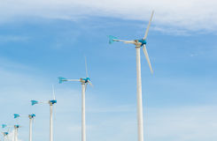 Row of wind turbine Royalty Free Stock Photo