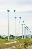 Row of wind turbine Stock Photography