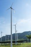 Row of wind turbines Royalty Free Stock Photo