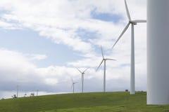 Row of Wind Turbines on a Wind Farm, Fleurieu Peninsula, SA Stock Photo