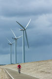 A row of wind turbines Royalty Free Stock Images