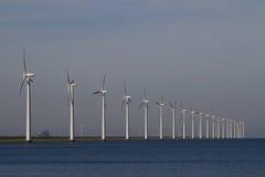 Row of windmills Stock Photos