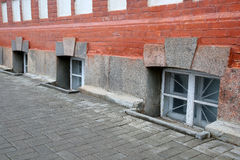 Row of the window of basement Stock Photography