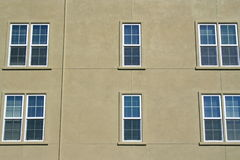 Row Of Windows. Close up of the windows of a building Stock Photography