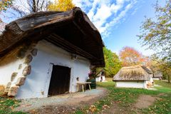 Row of Wine Cellars in Cak, Hungary royalty free stock images