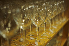 Row of wine glasses Stock Image