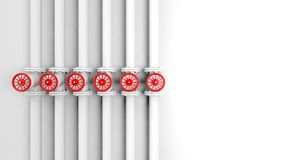 Row of withe pipes Royalty Free Stock Images