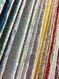 A row of wood with different painting color Royalty Free Stock Images