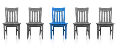 Row of wooden chairs Royalty Free Stock Photo