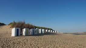Summer beach cabins royalty free stock image