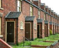 Row of workmen's terraced houses Stock Photos