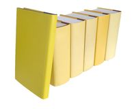 Row of yellow books Royalty Free Stock Images