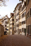 Row of zurich apartments Royalty Free Stock Photo