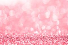Różowa błyskotliwość dla abstrakcjonistycznego tła Obraz Stock
