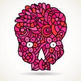 Różowa cukrowa czaszka Zdjęcia Royalty Free