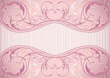 Różowa kwiecista tło rama Zdjęcie Royalty Free