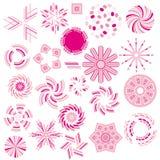 Różowa ornament kolekcja Fotografia Stock