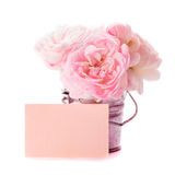 Różowa róży wiązka Obrazy Royalty Free