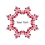 Rowan Berries cerchio Modello per il vostro disegno scheda Immagine Stock Libera da Diritti