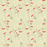 Rowan berry seamless pattern Royalty Free Stock Photos