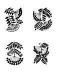 Rowan branches stylization. Rowan branches black silhouettes stylization Stock Photography