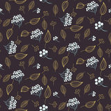 Rowan and leaves seamless vector pattern. stock illustration