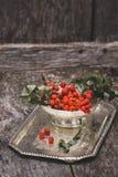 Rowanberry na drewnianym tle Obraz Royalty Free