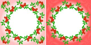 Rowanberry Wreaths Royalty Free Stock Photos
