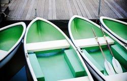 Rowboat на озере Стоковое Изображение